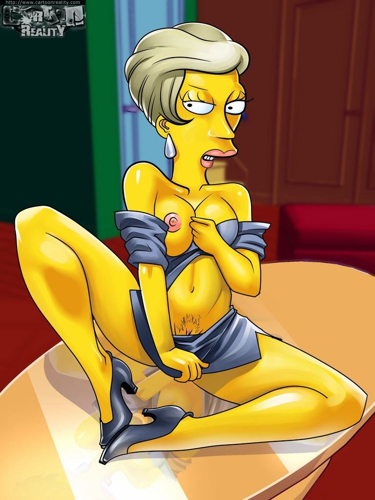 Marge simpson feet sucked and nude think