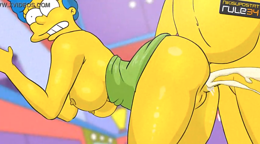 Marge simpson gets anal creampie